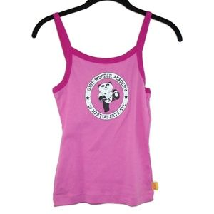 Girl Wonder Pink Panda Martial Arts Tank Top NWOT